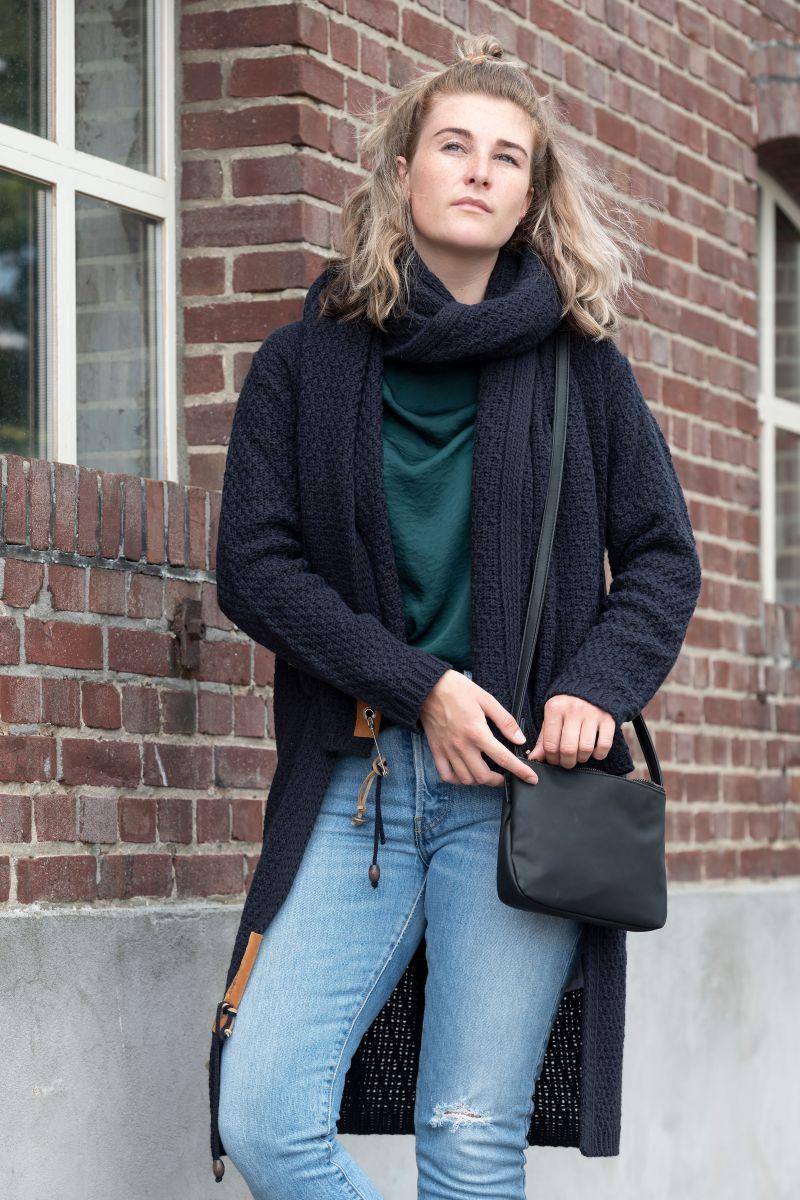 knit factory 1336226 luna vest 3638 navy 3