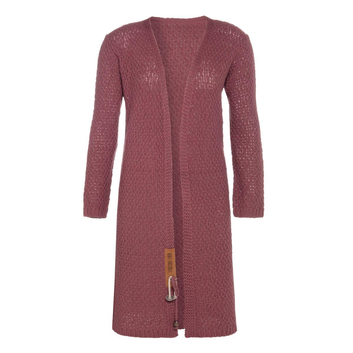 knit factory kf13308203851 luna vest stone red 4042 1