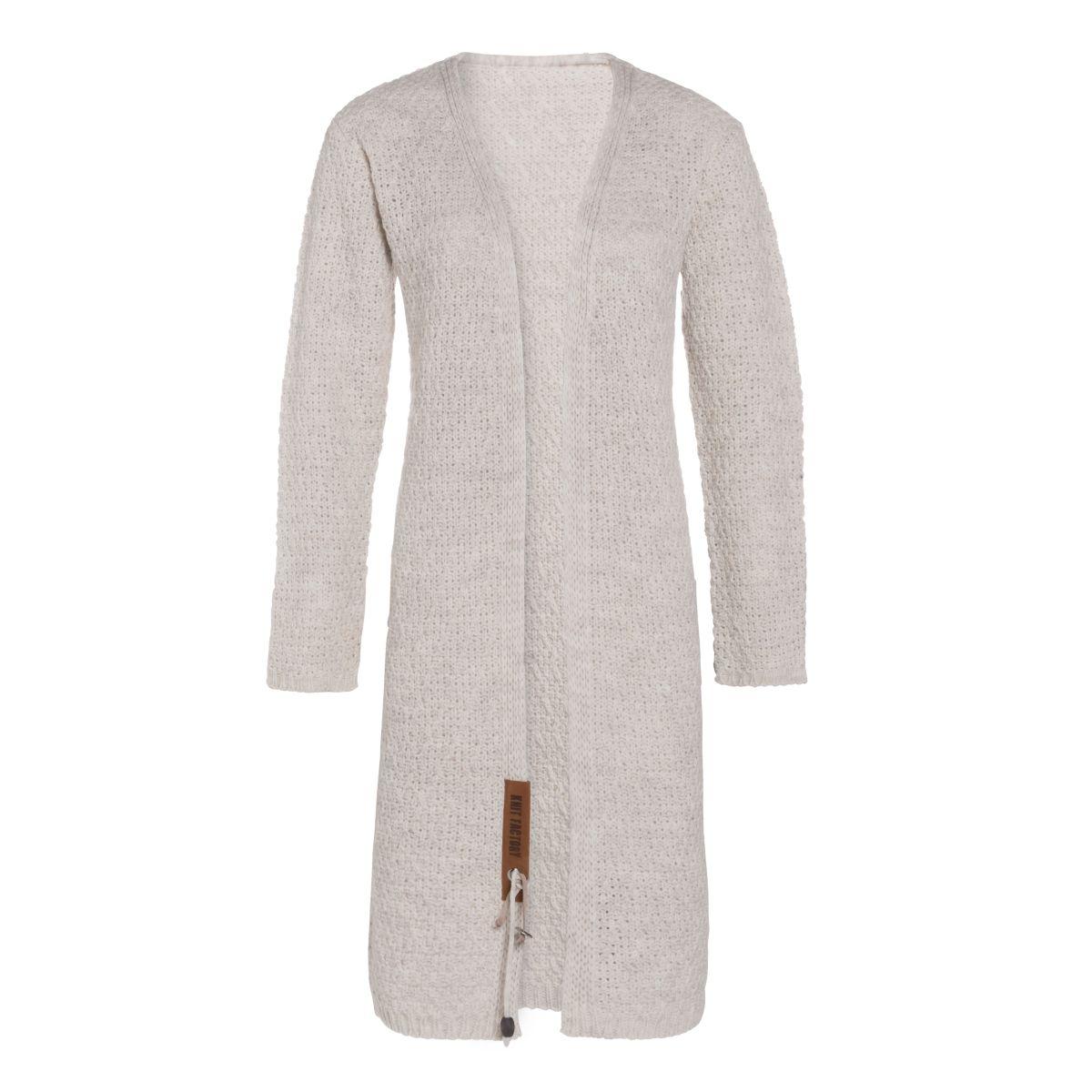 luna long knitted cardigan beige 3638