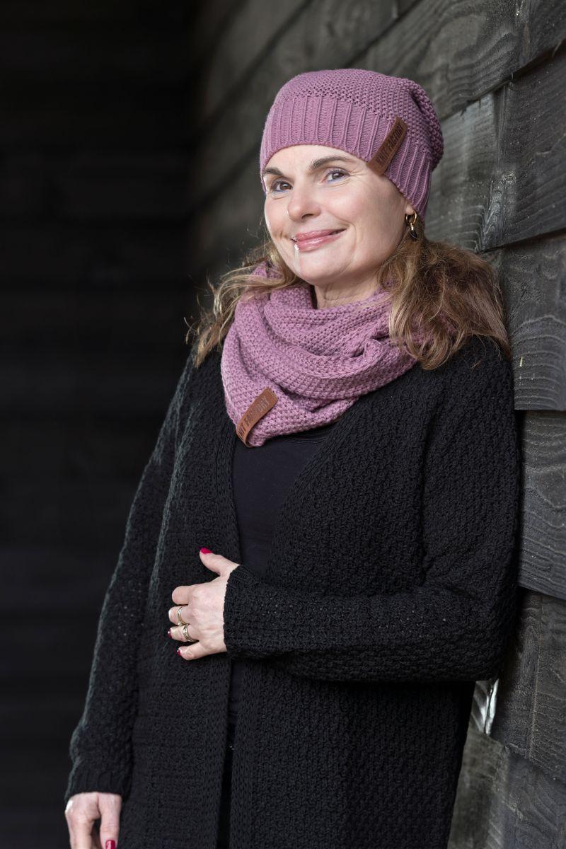 luna long knitted cardigan black 3638