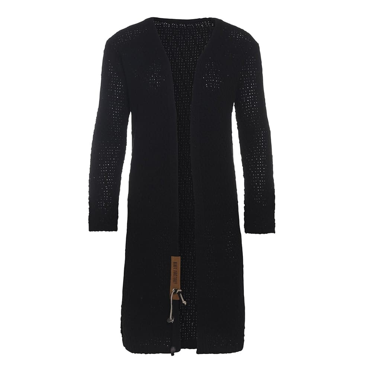 luna long knitted cardigan black 4042