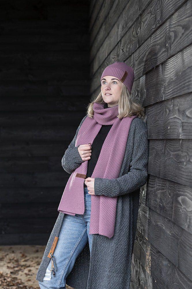 luna long knitted cardigan bordeaux 3638