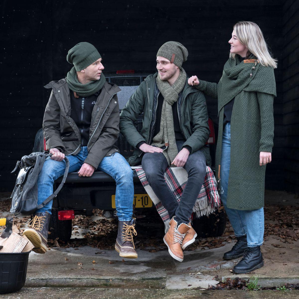 luna long knitted cardigan khaki 3638