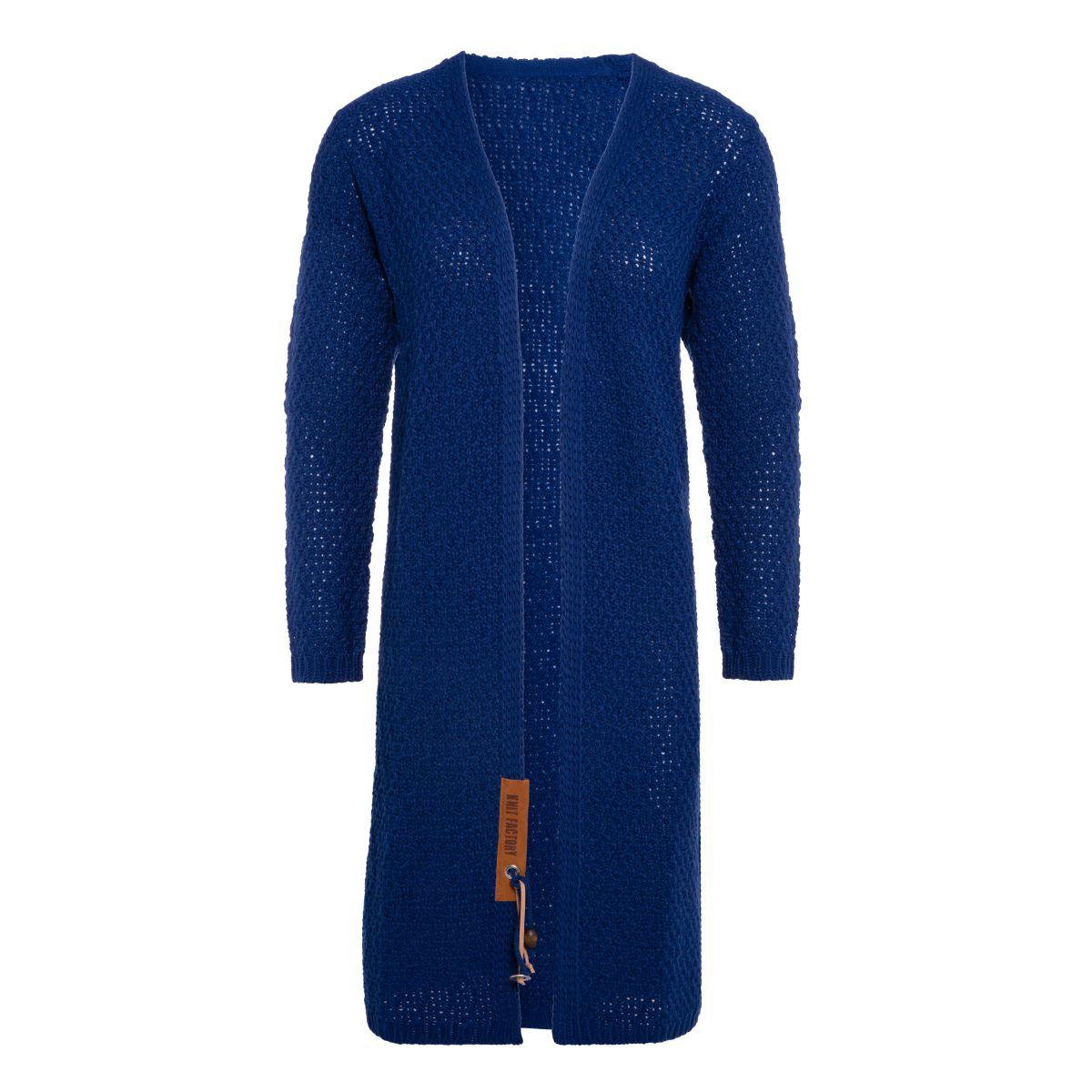 luna long knitted cardigan kings blue 3638