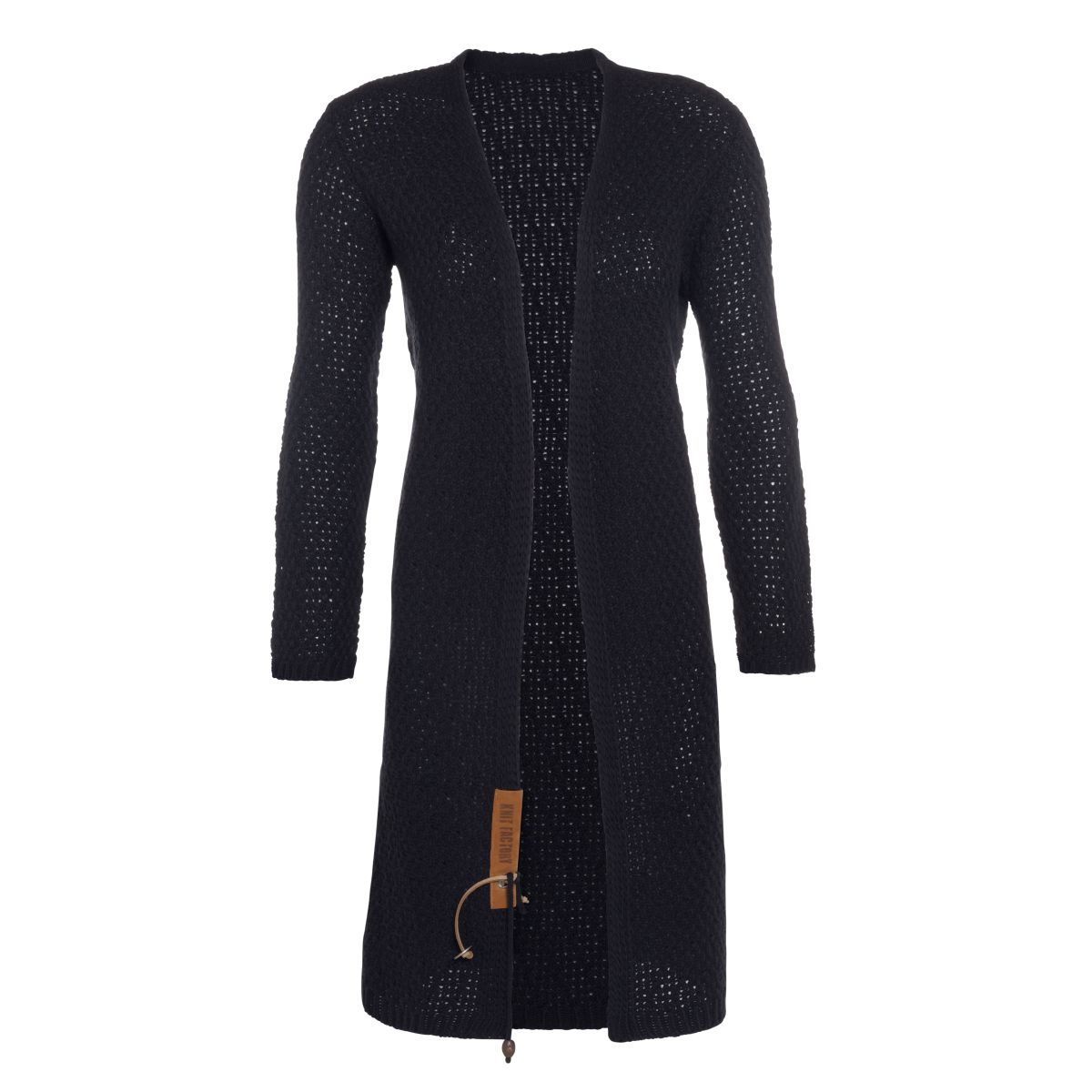 luna long knitted cardigan navy 3638