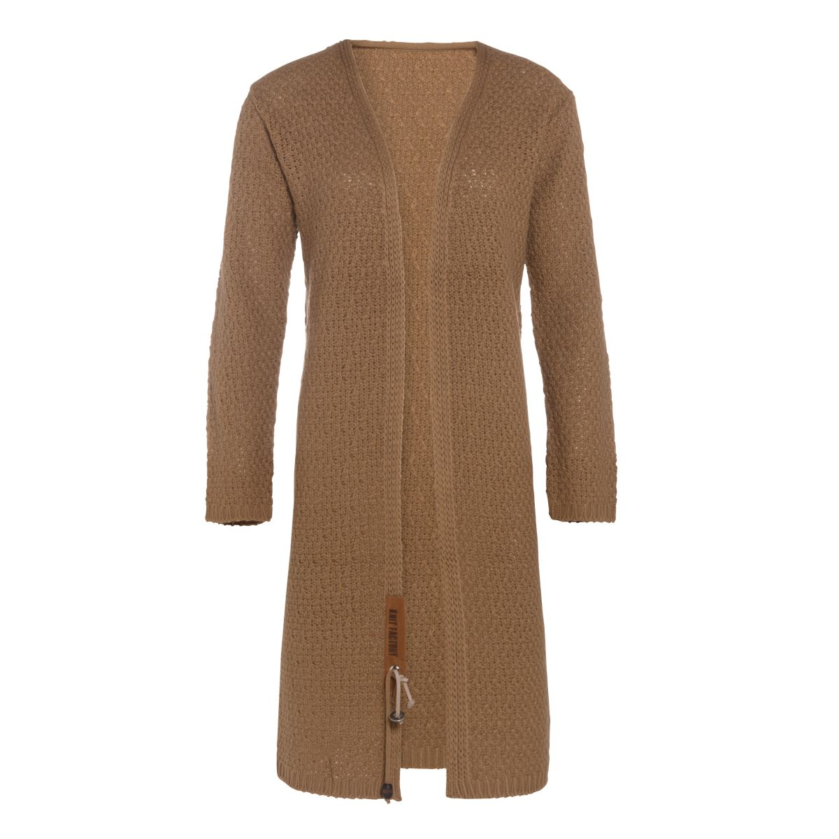 luna long knitted cardigan new camel 4042