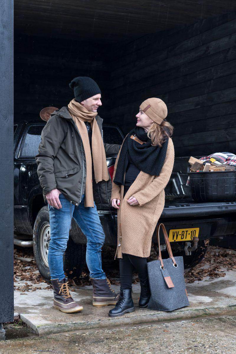 luna long knitted cardigan petrol 3638