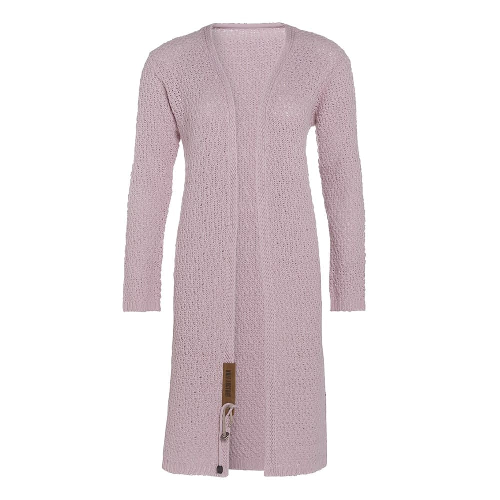 luna long knitted cardigan pink 3638