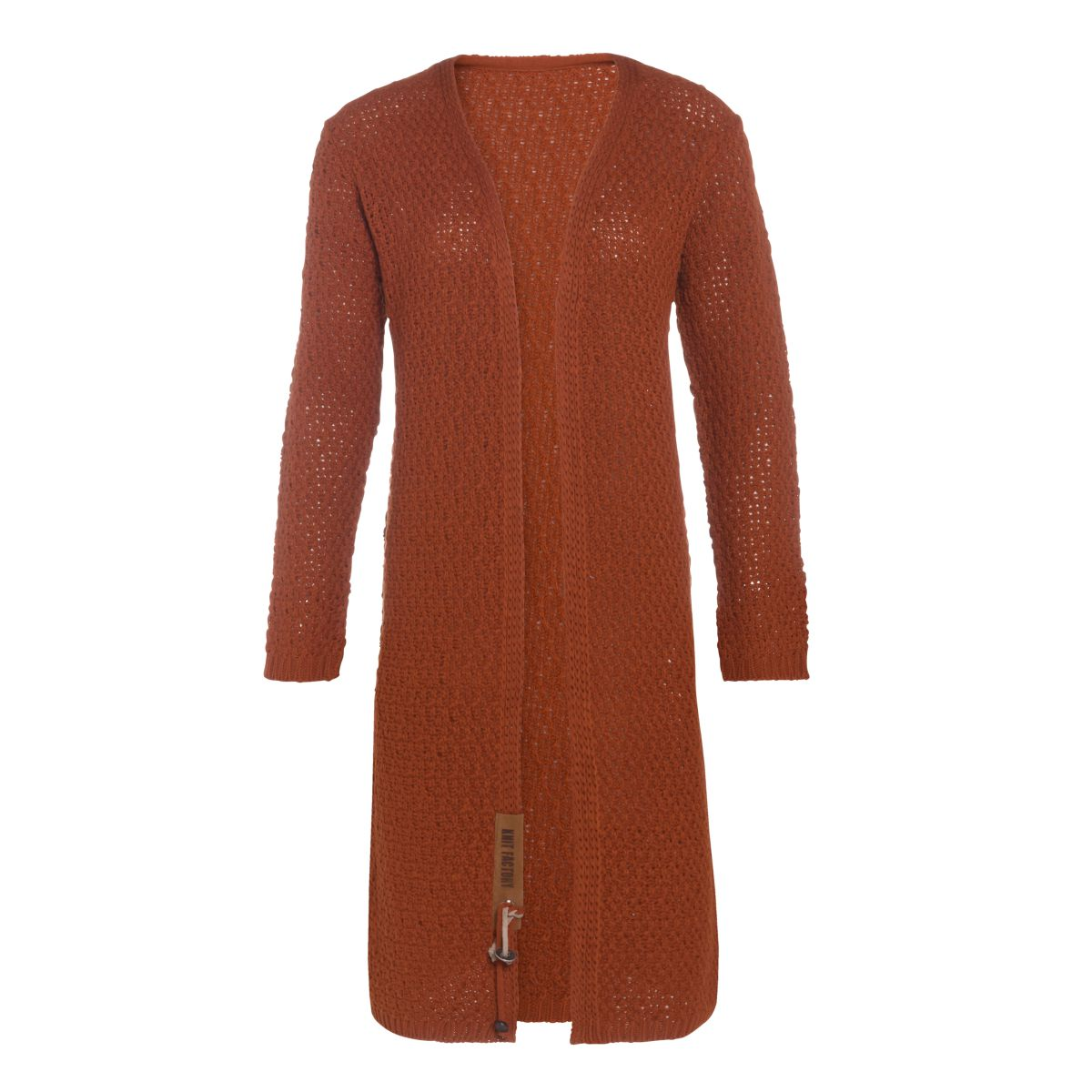 luna long knitted cardigan terra 4042