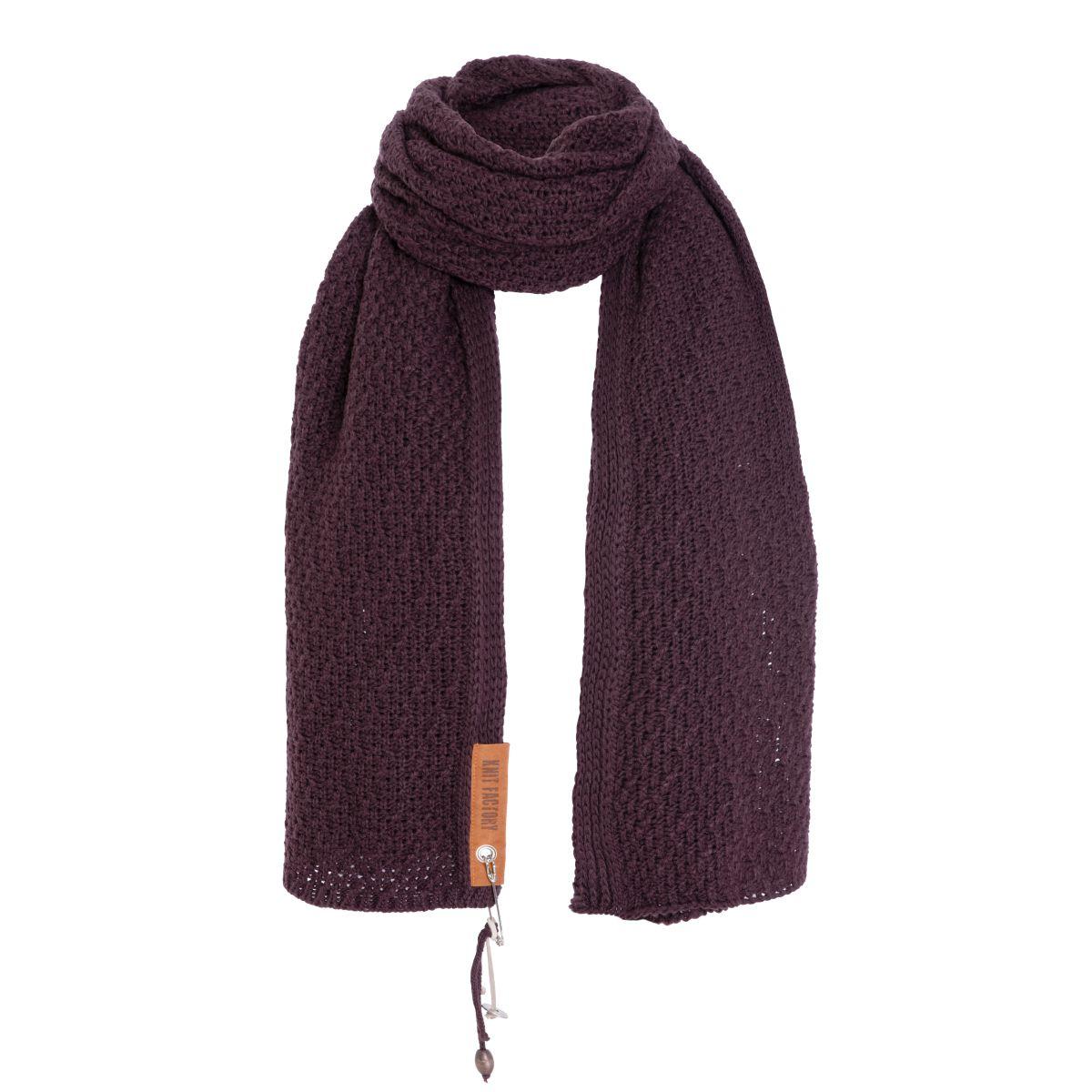 luna scarf aubergine