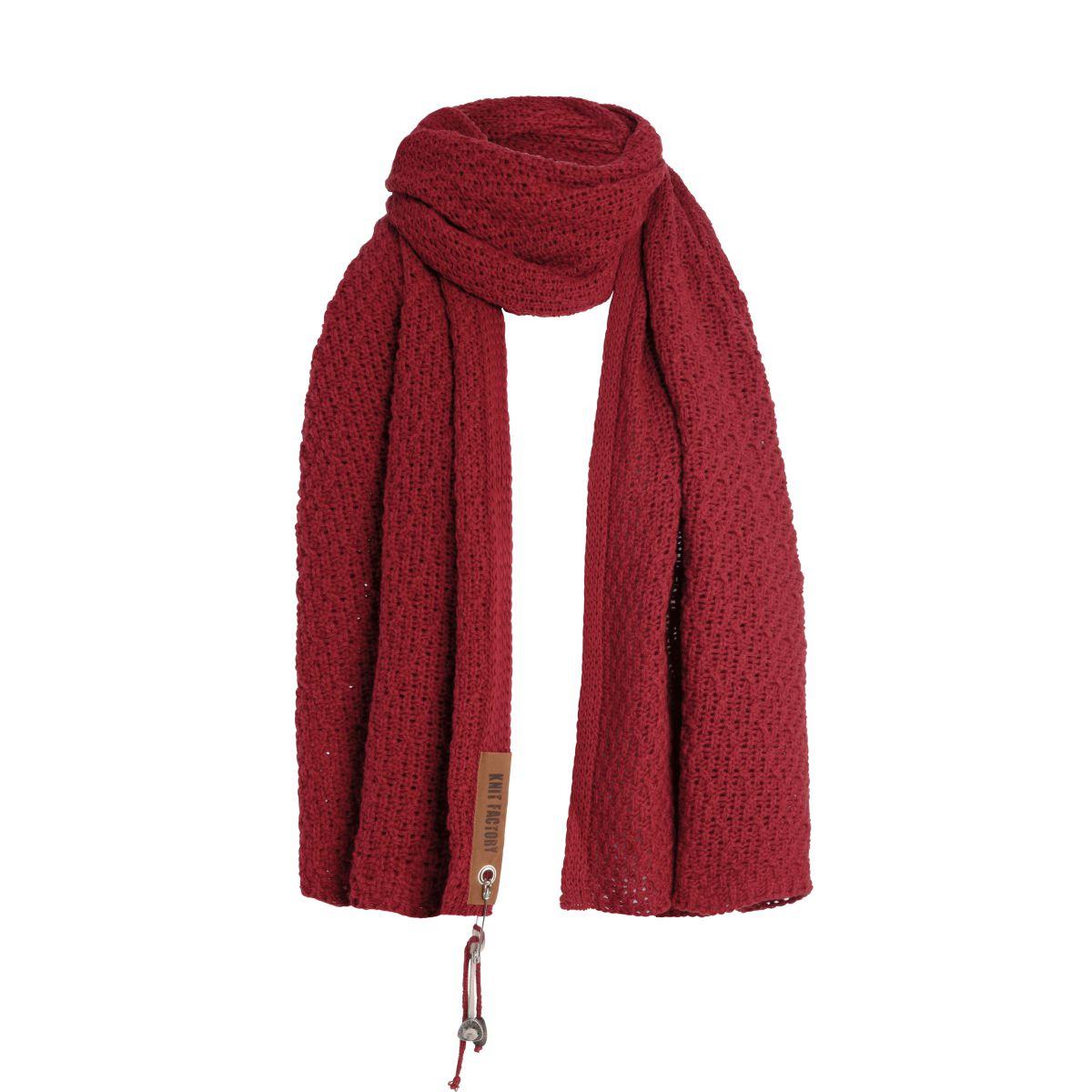 luna scarf bordeaux