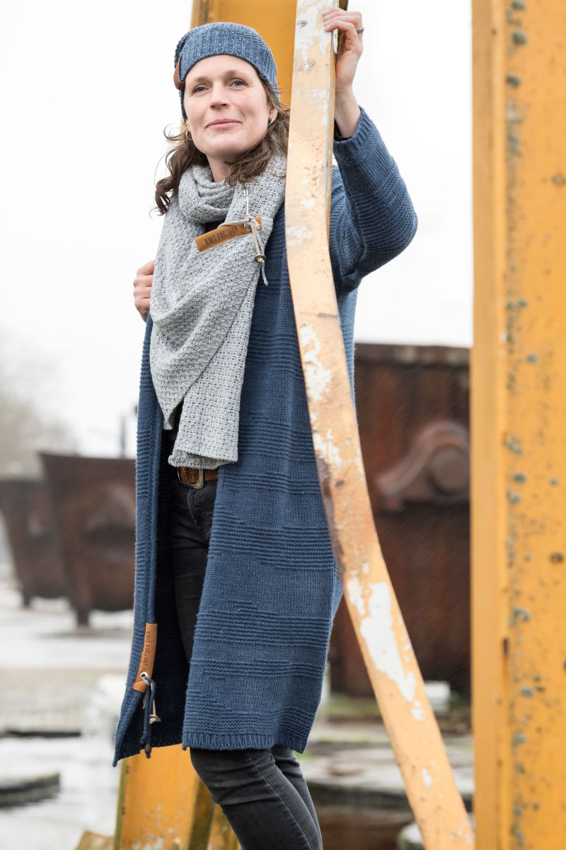 luna scarf light grey