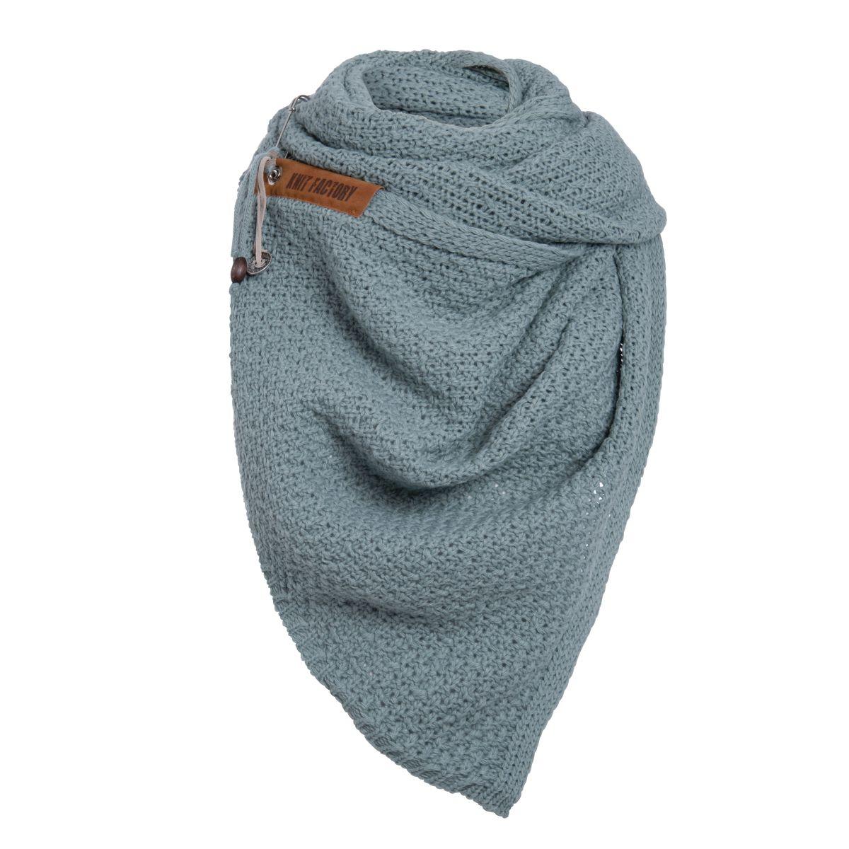luna scarf stone green