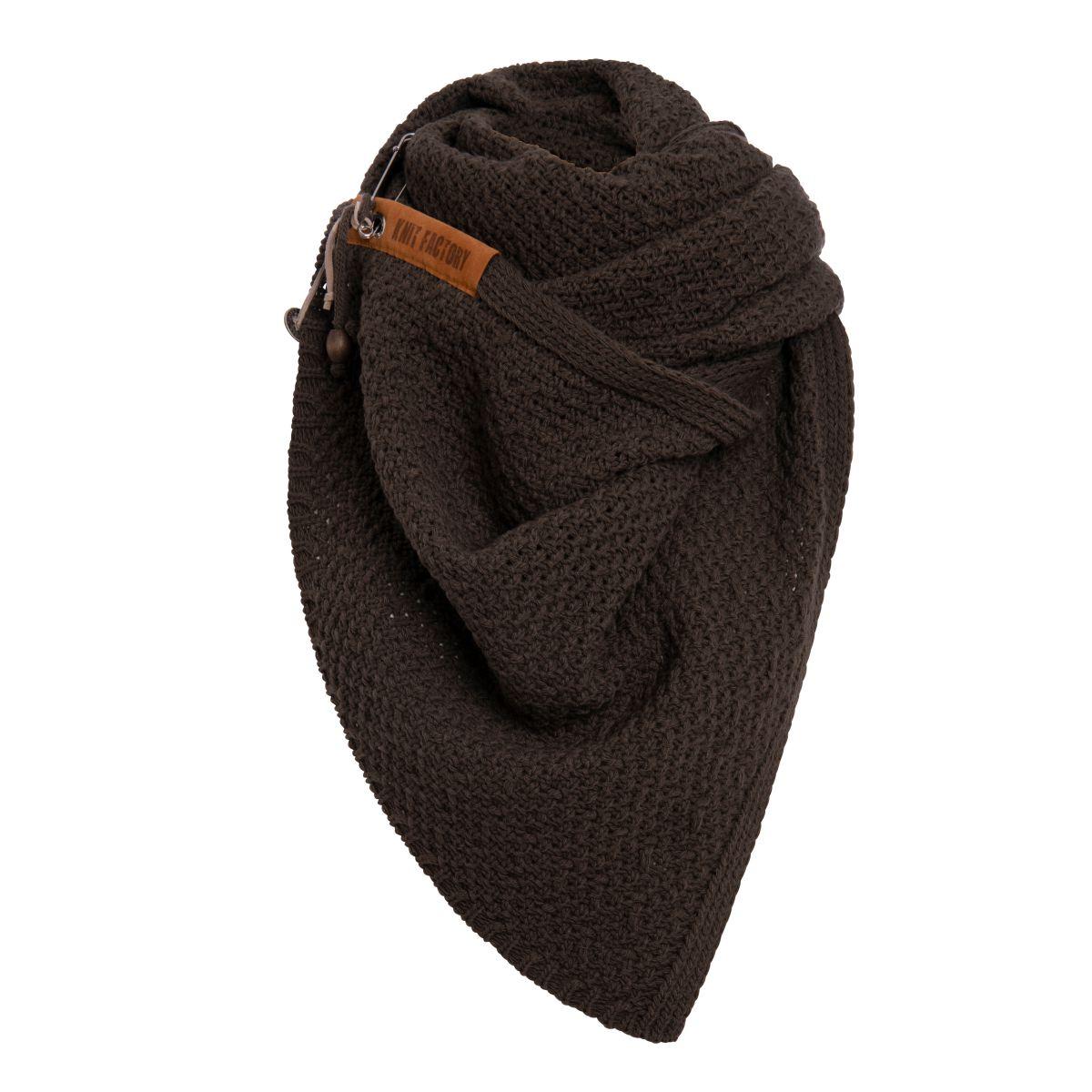 knit factory kf133065037 luna sjaal donkerbruin 2