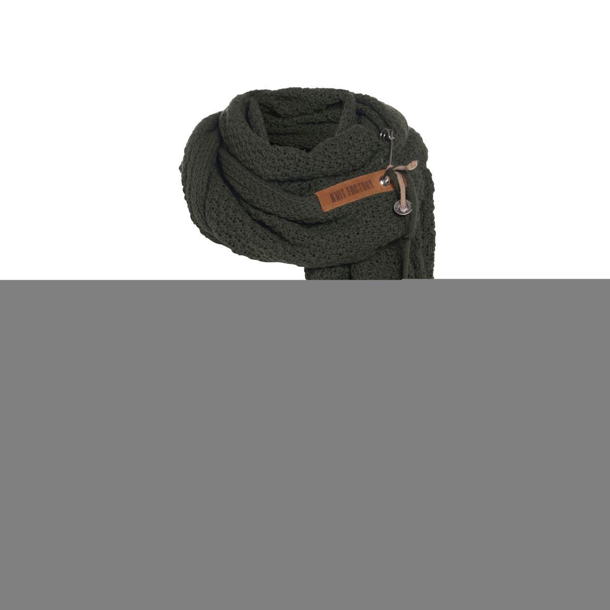 knit factory 1336525 luna sjaal khaki 4