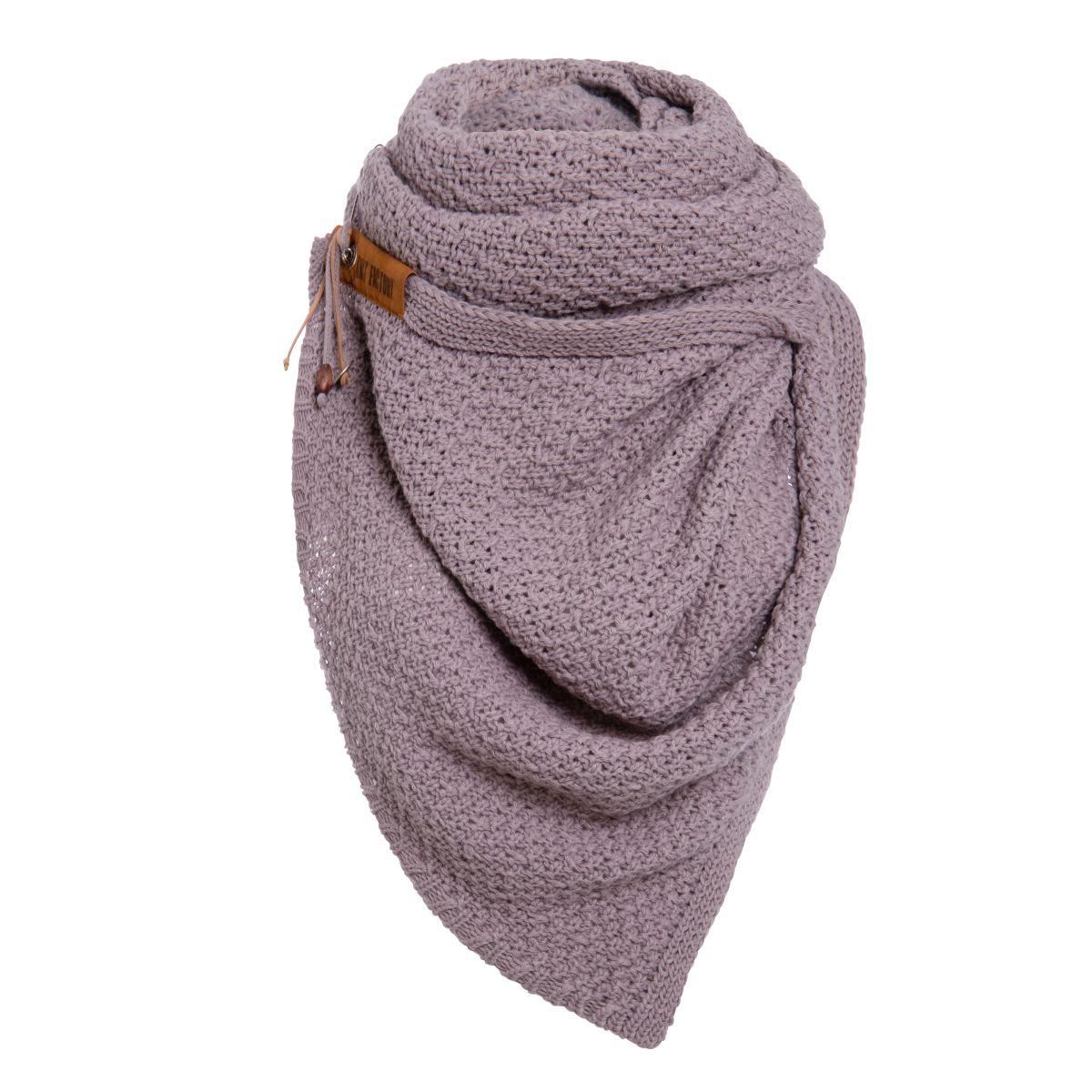 knit factory 1336534 luna sjaal mauve 2