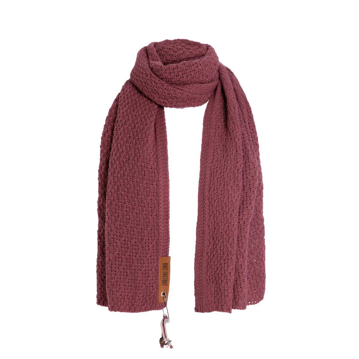 luna sjaal stone red