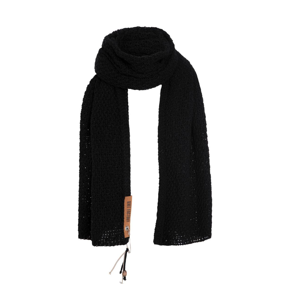 knit factory 1336500 luna sjaal zwart 1