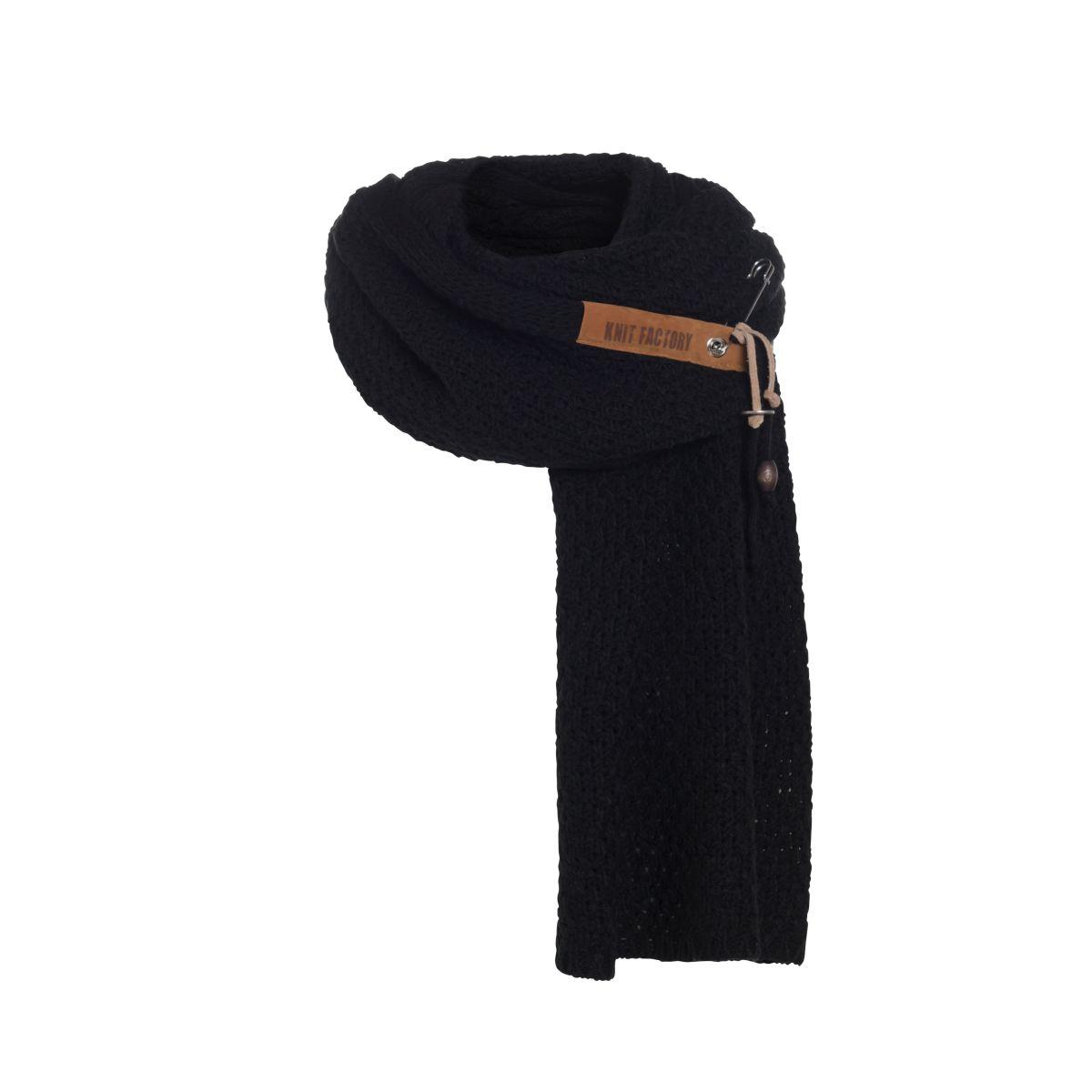 knit factory 1336500 luna sjaal zwart 4