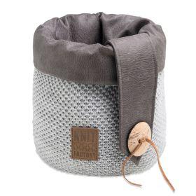 Lynn Basket Light Grey - 35 cm
