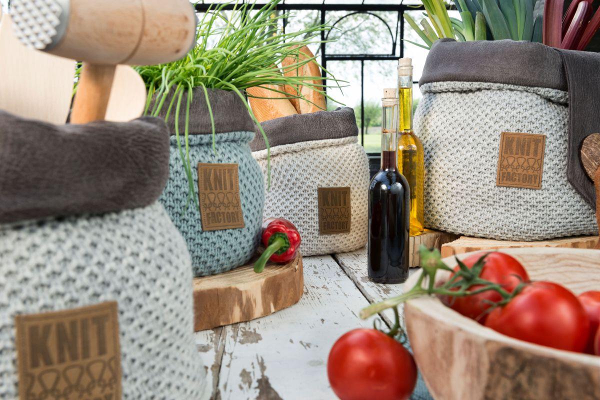 lynn basket stone green 25 cm