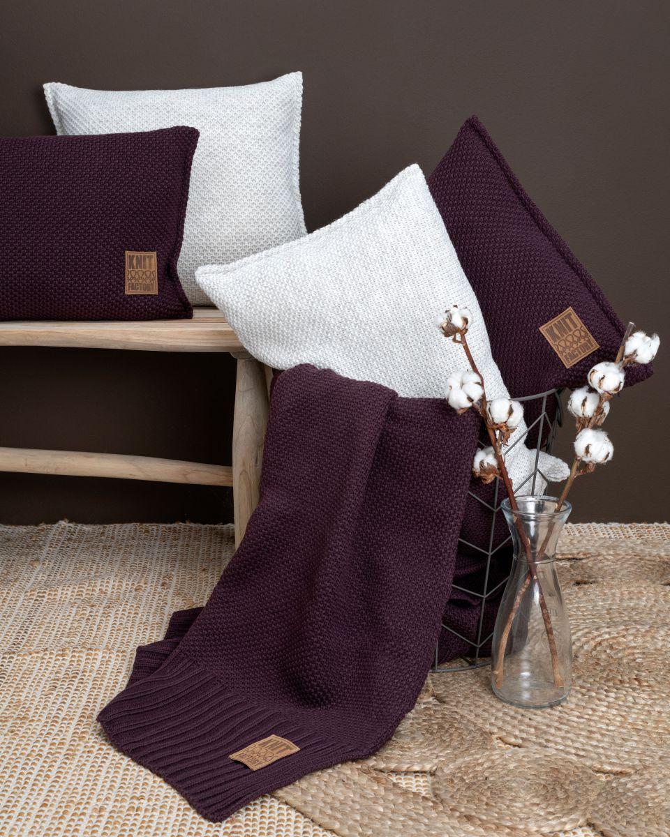 lynn cushion aubergine 50x50