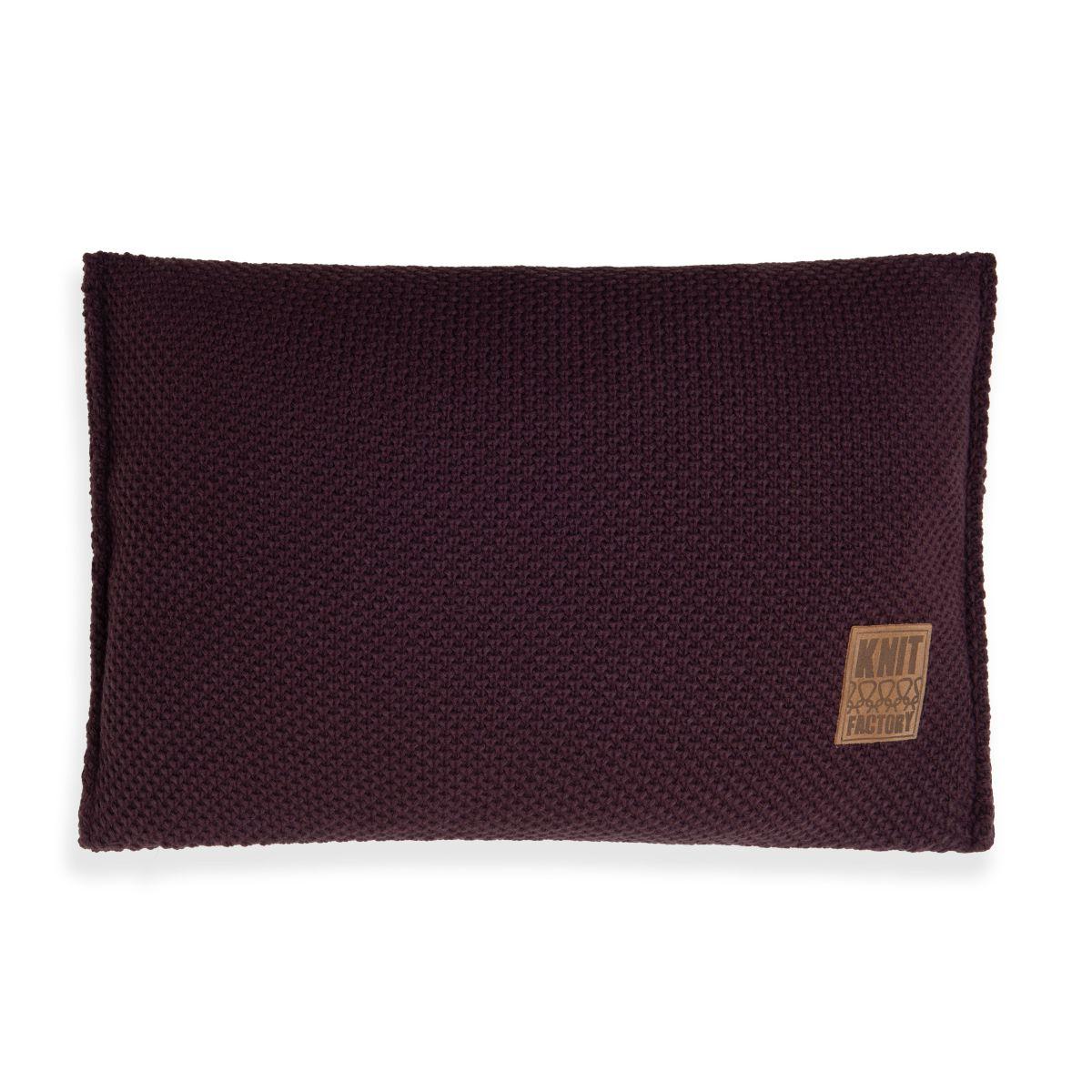 lynn cushion aubergine 60x40