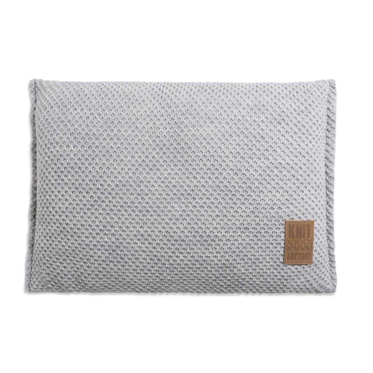 lynn cushion light grey 60x40
