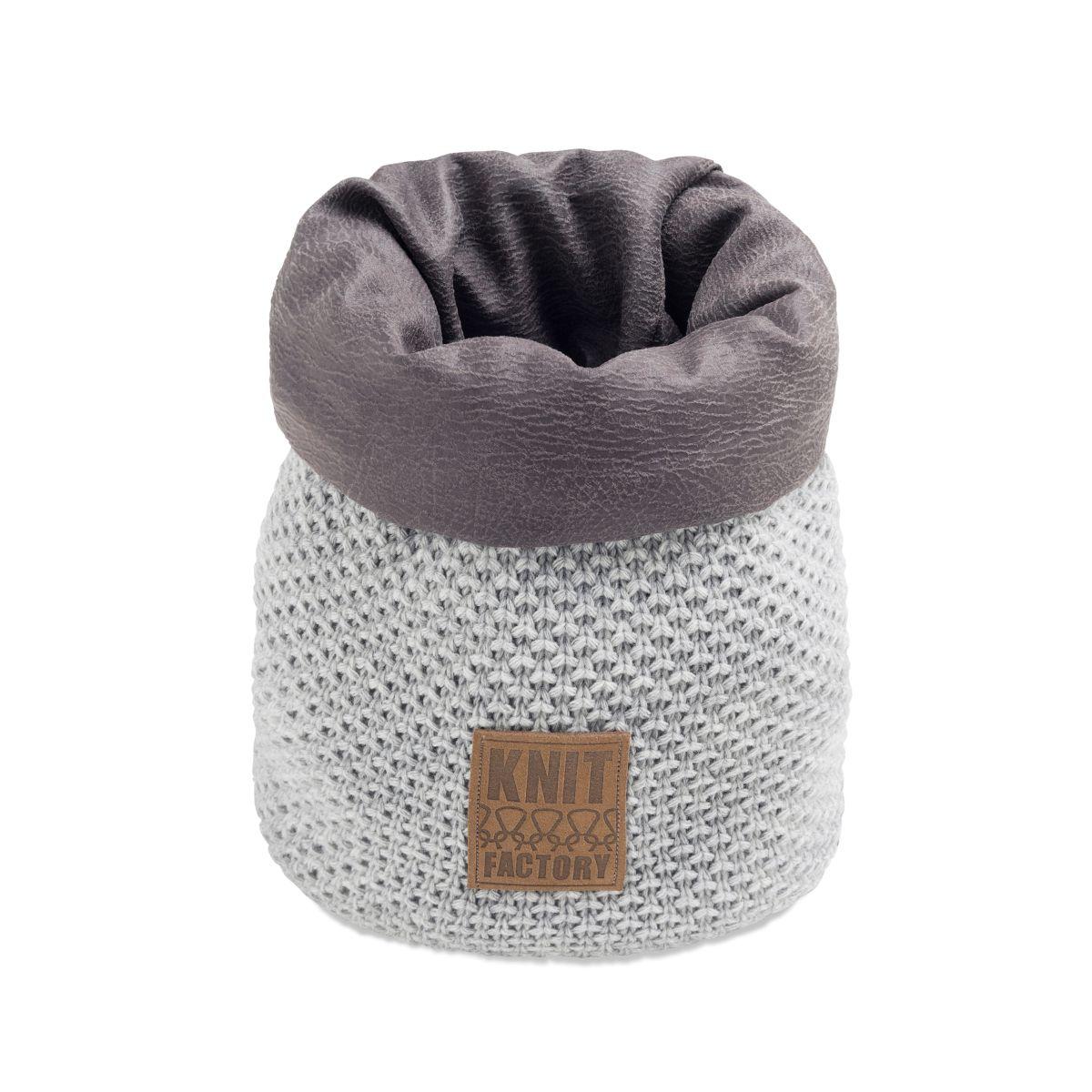 knit factory 1182211 mand klein lynn licht grijs