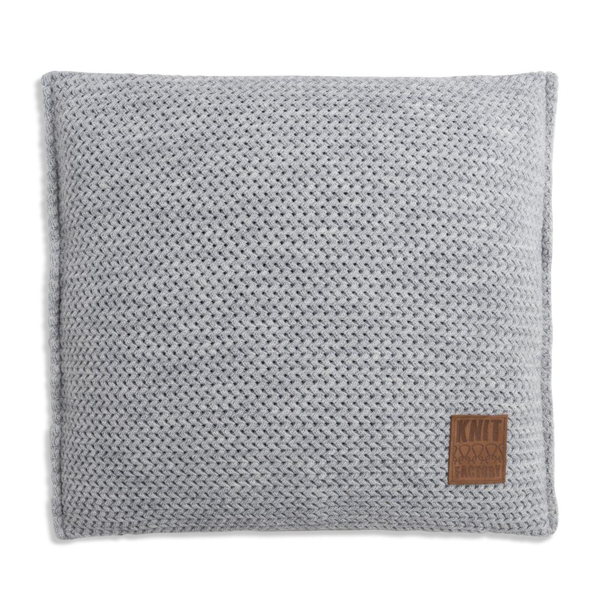 knit factory 1211211 kussen 50x50 maxx licht grijs 1