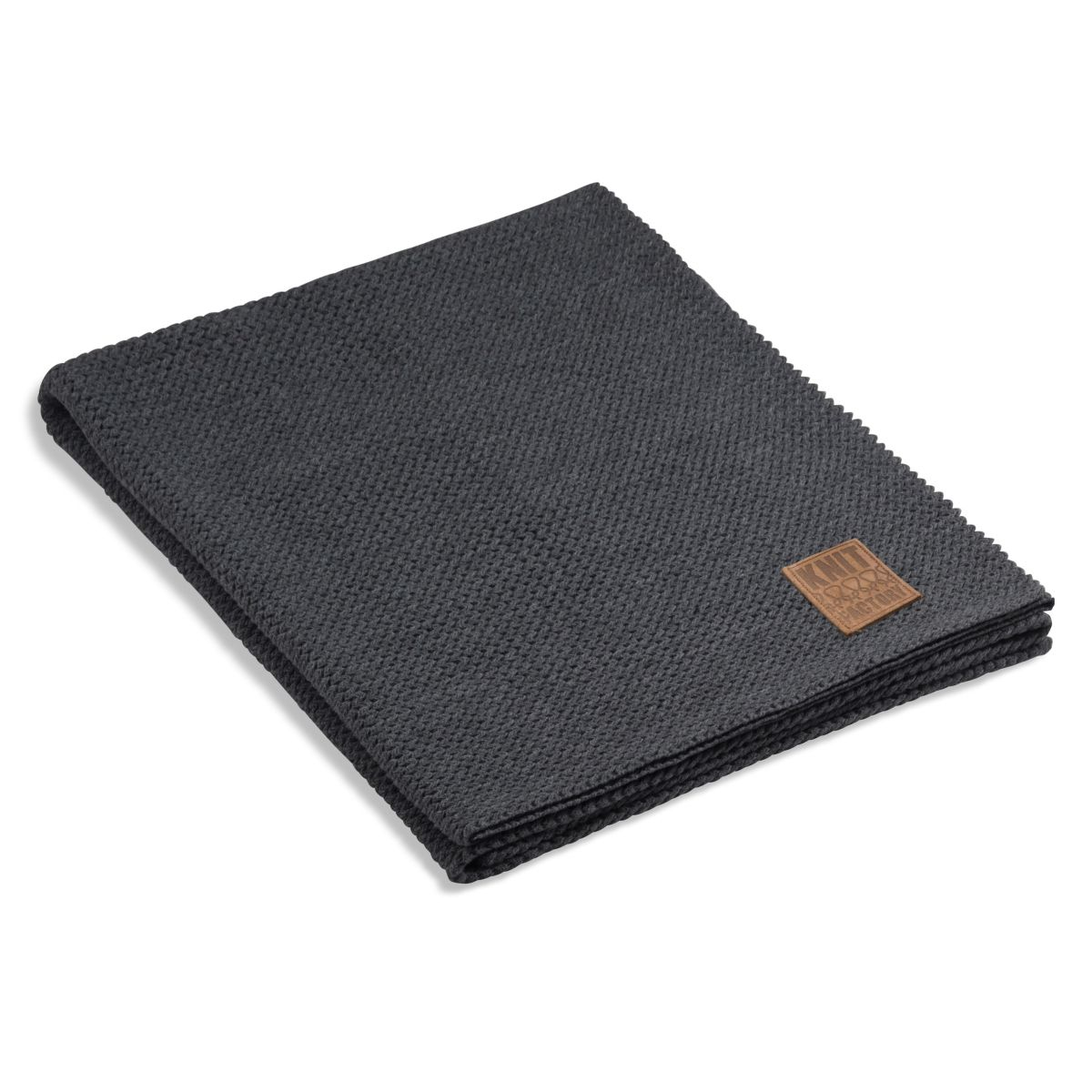 knit factory 1211110 plaid maxx antraciet