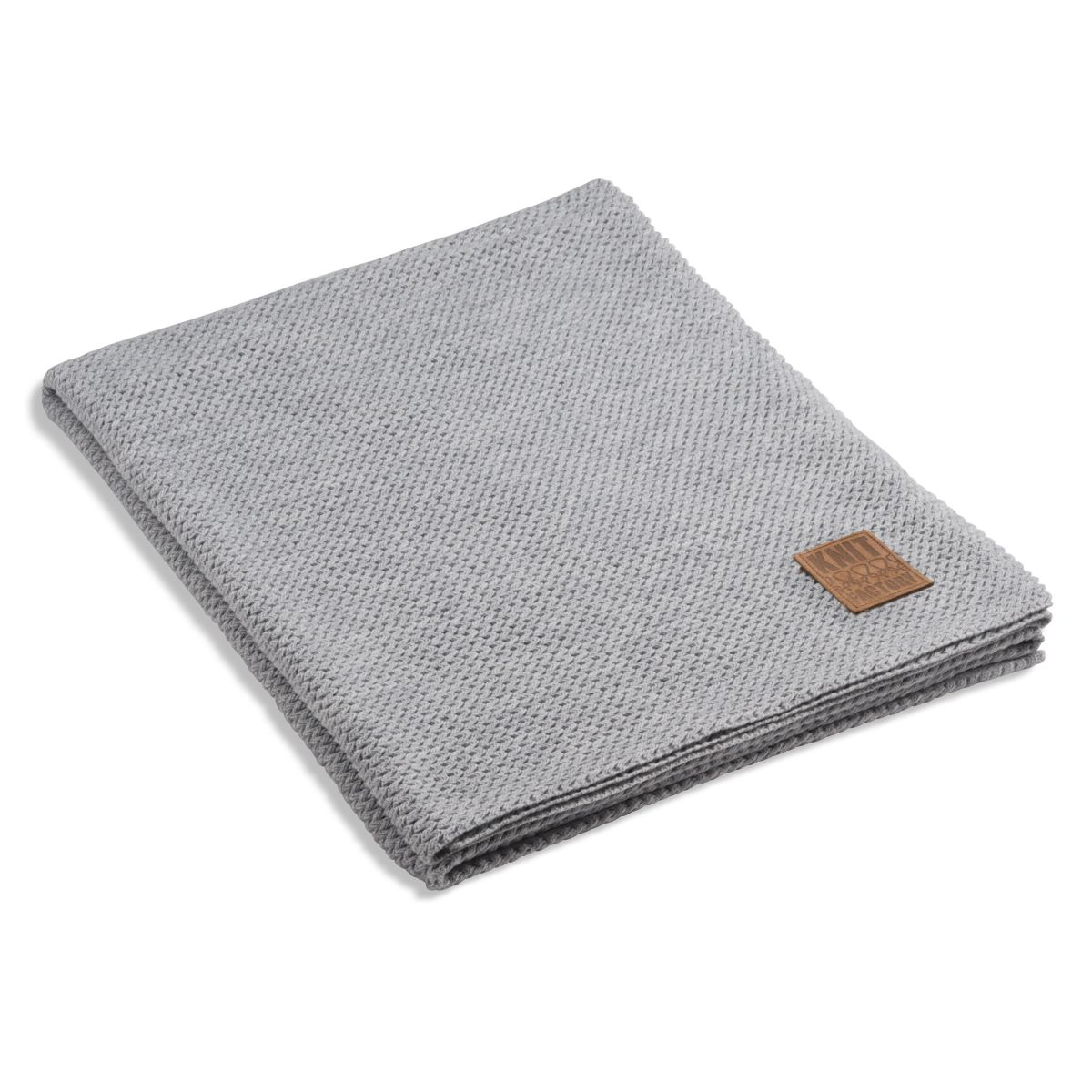 knit factory 1211111 plaid maxx licht grijs
