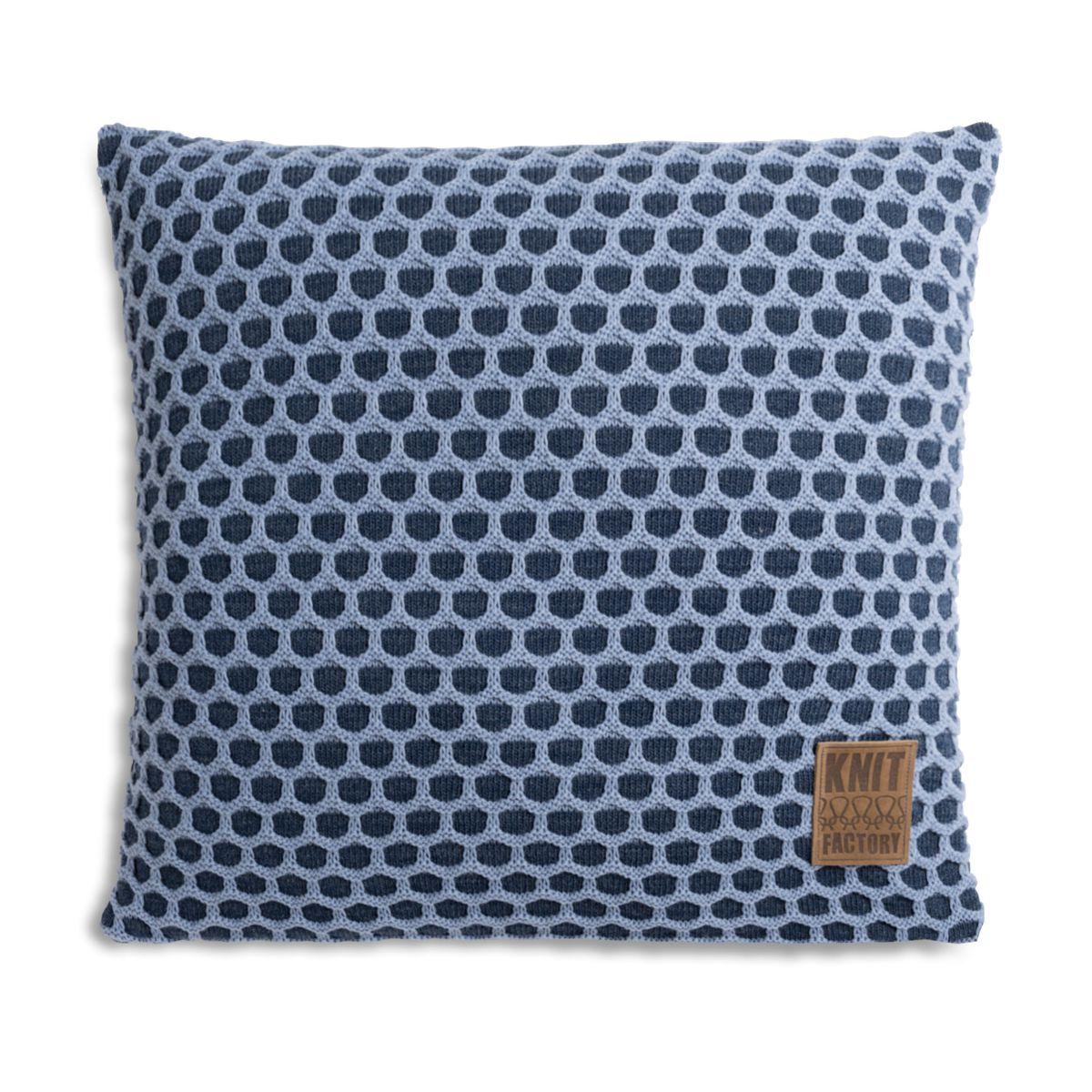 knit factory 1081254 kussen 50x50 mila jeans indigo 1