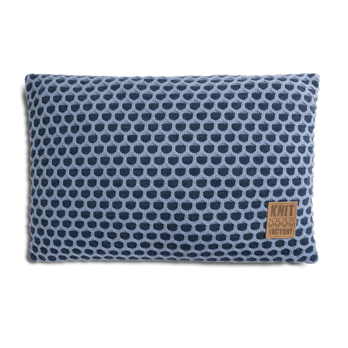 knit factory 1081354 kussen 60x40 mila jeans indigo 1