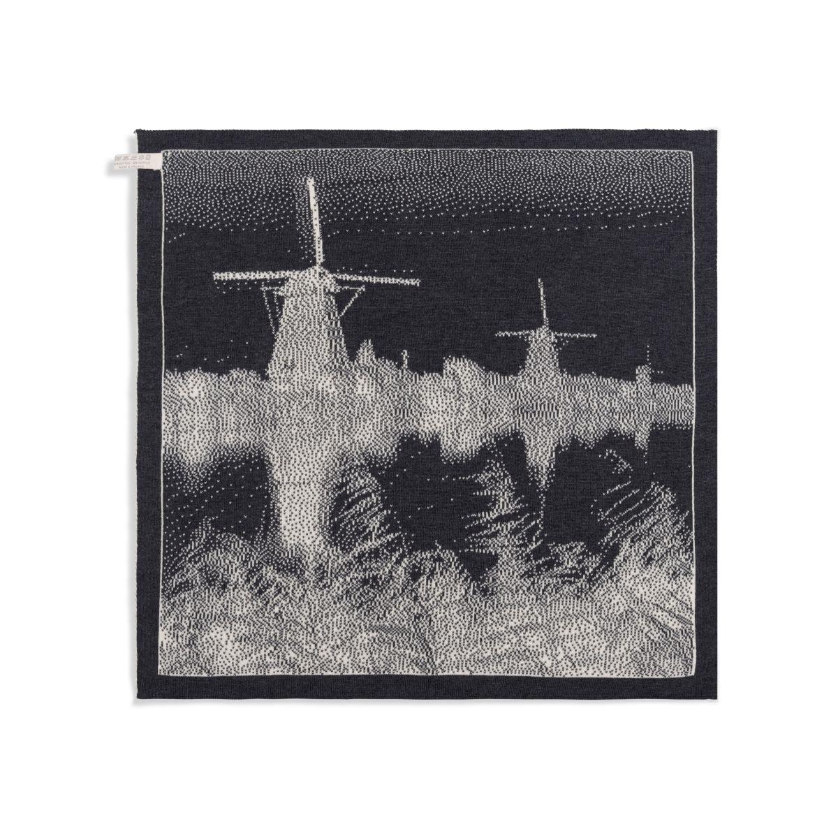 knit factory 2300070 keukendoek molens ecru antraciet 2