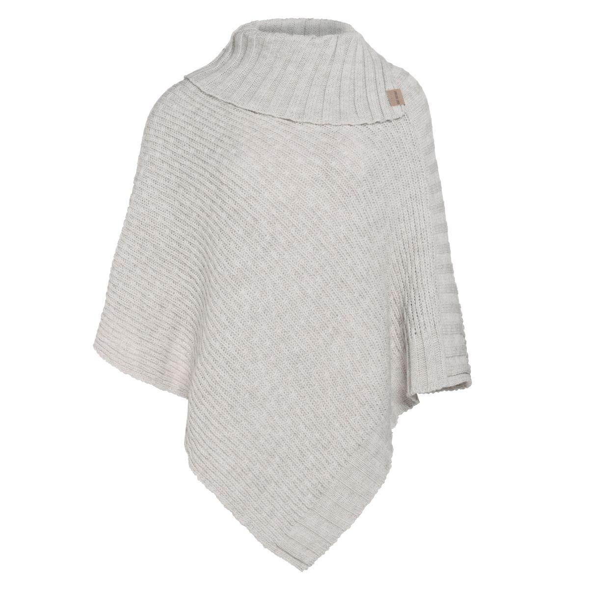 knit factory kf14806201250 nicky gebreide poncho beige 1