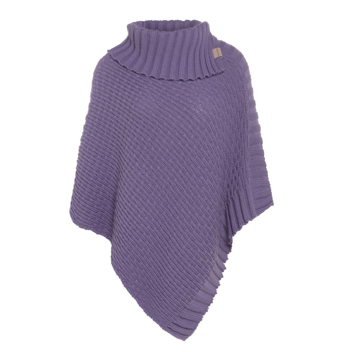 knit factory kf14806204350 nicky gebreide poncho violet 1