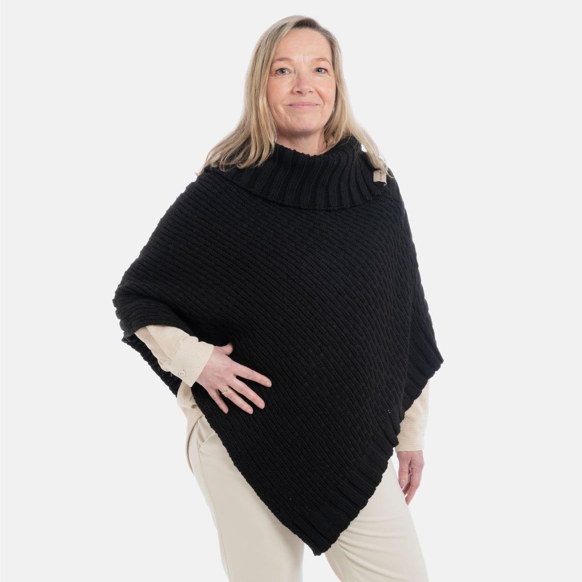 kf148062 knit factory nicky gebreide poncho 1