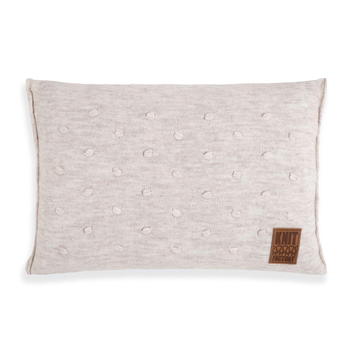 knit factory 1071312 kussen 60x40 noa beige 1