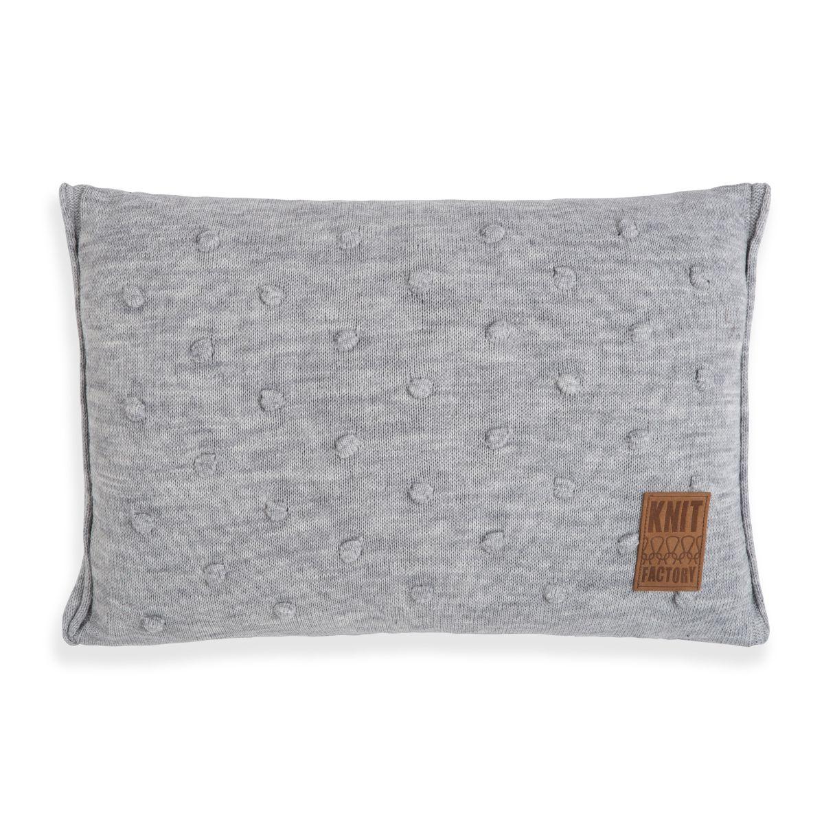 knit factory 1071311 kussen 60x40 noa licht grijs 1