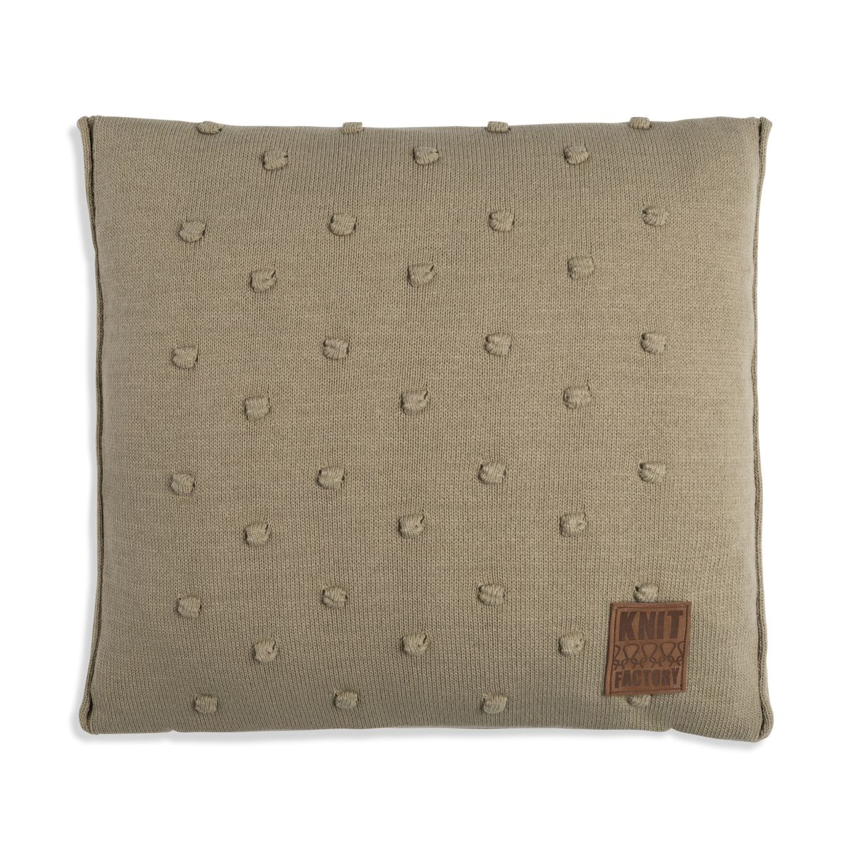 knit factory 1071233 kussen 50x50 noa olive 1