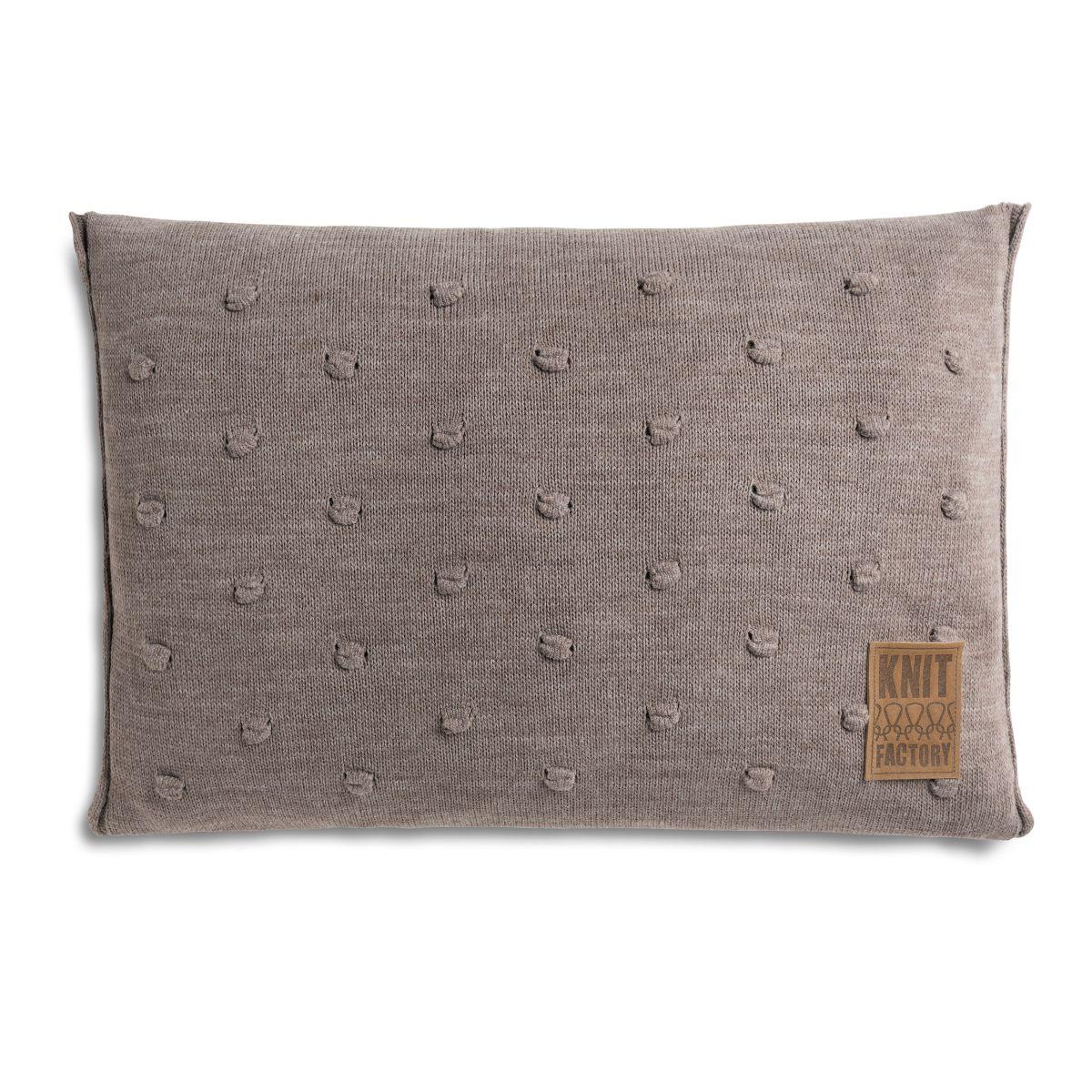 knit factory 1071329 kussen 60x40 noa taupe 1