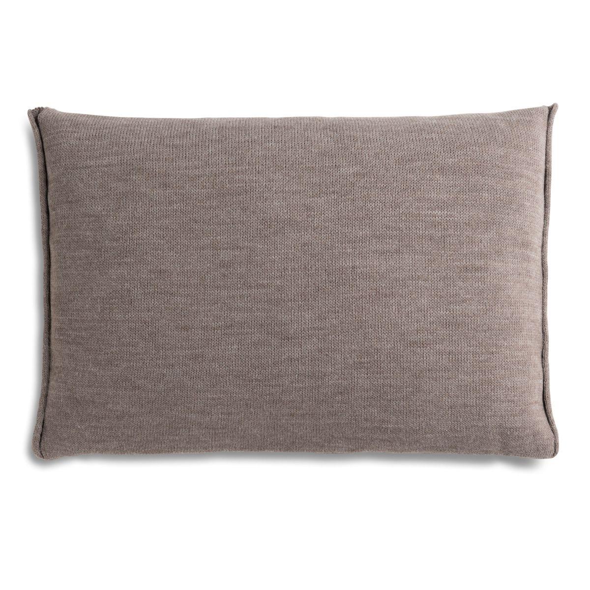 knit factory 1071329 kussen 60x40 noa taupe 2