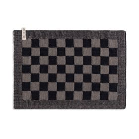 Placemat Block Black/Taupe