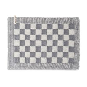 Placemat Block Ecru / Med Grey