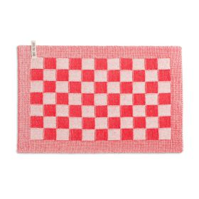 Placemat Block Ecru/Red
