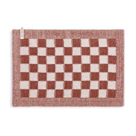 Placemat Block Ecru/Rust