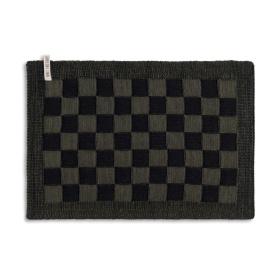 Placemat Block Zwart/Khaki