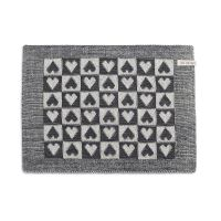 Placemat Heart Ecru/Anthracite