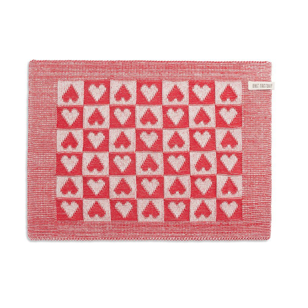 placemat heart ecrured